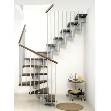 Escalier double quart tournant ark kompact acier et h tre massif - Escalier metallique occasion ...