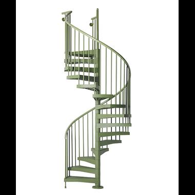 Escalier-colimacon-exterieur-vert