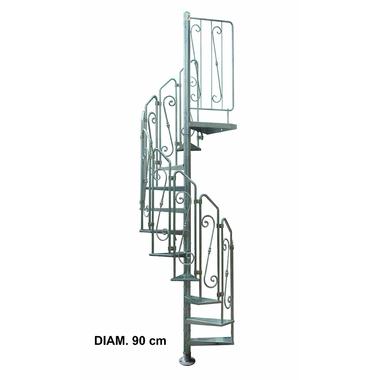 escalier h lico dal ext rieur acier galvanis pinto 90 cm. Black Bedroom Furniture Sets. Home Design Ideas