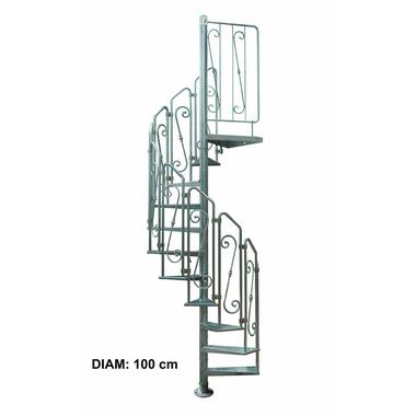 escalier ext rieur en colima on acier galvanis pinto as 100 cm. Black Bedroom Furniture Sets. Home Design Ideas