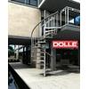 Escalier en colimaçon extérieur Dolle Toronto en acier galvanisé Ø 155 cm