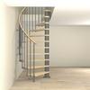 Escalier semi-colimaçon en acier gris fonte Fontanot Tulip Ø 178 cm