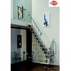 Escalier quart-tournant en acier et bois Minka Joker