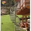 Escalier hélicoïdal extérieur Minka en acier galvanisé Ø 160 cm