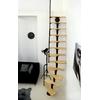 Escalier gain de place en acier et bois Minka Twister