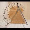 Escalier hélicoïdal design en acier et hêtre Dolle Loft Ø 138 cm