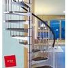 Escalier hélicoïdal en acier gris et noir Arkè Civik Ø 160 cm