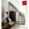 Escalier Arkè Komoda en métal et hêtre massif - largeur 70 cm