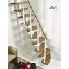 Escalier gain de place design Fontanot Zen en acier et bois