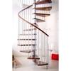 Escalier hélicoïdal Arkè Klan en acier gris métallisé et hêtre Ø 140 cm