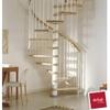 Escalier hélicoïdal Arkè Klan en acier et hêtre Ø 160 cm
