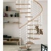 Escalier hélicoïdal Arkè Kloé en acier blanc et hêtre massif Ø 120 cm