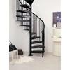 Escalier hélicoïdal à spirale Arkè Civik en acier noir Ø 160 cm