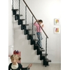 Escalier gain de place en acier et hêtre Arkè Kya