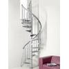 Escalier en colimaçon / hélicoïdal en acier gris Fontanot Nice 3 Ø 100 cm