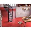 Escalier en colimaçon / hélicoïdal en acier noir Fontanot AF26 Ø 110 cm