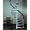 Escalier hélicoïdal en acier blanc et noir Fontanot AF26 Ø 100 cm