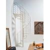 Escalier hélicoïdal / colimaçon en acier blanc Fontanot Slim Ø 130 cm