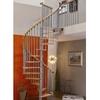 Escalier hélicoïdal Minka Spiral Decor en acier gris métallisé et hêtre massif Ø 160 cm