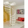 Escalier en colimaçon en acier blanc Magia 50 Ø 110 cm