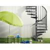 Escalier hélicoïdal / colimaçon en acier gris fonte Magia 50 Ø 130 cm