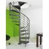 Escalier hélicoïdal en acier gris fonte Magia 50 Xtra Ø 150 cm