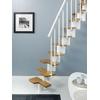 Escalier gain de place Magia 30 en acier et bois