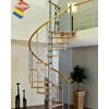 Escalier en colimaçon Minka Venezia en hêtre massif et acier Ø 140 cm