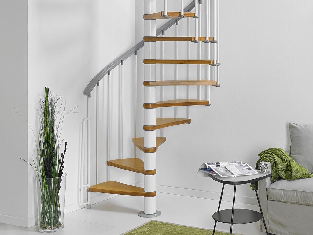 Barriere Escalier En Colimaçon escalier en colimaçon acier et hêtre fontanot zip o Ø 130 cm