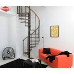 Escalier colimaçon Minka Venezia avec main courante en hêtre massif Ø 120 cm