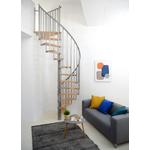 Escalier colimaçon Minka Berlin en acier et bois Ø 120 cm