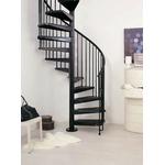 Escalier en colimaçon / à spirale Arkè Civik en acier noir Ø 140 cm