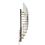 Escalier gain de place semi-hélicoïdal Treppen Hambourg en acier et hêtre 60 x 120 cm