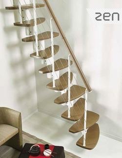 l 39 escalier gain de place fontanot zen vendu par escalier conseils am nagement. Black Bedroom Furniture Sets. Home Design Ideas