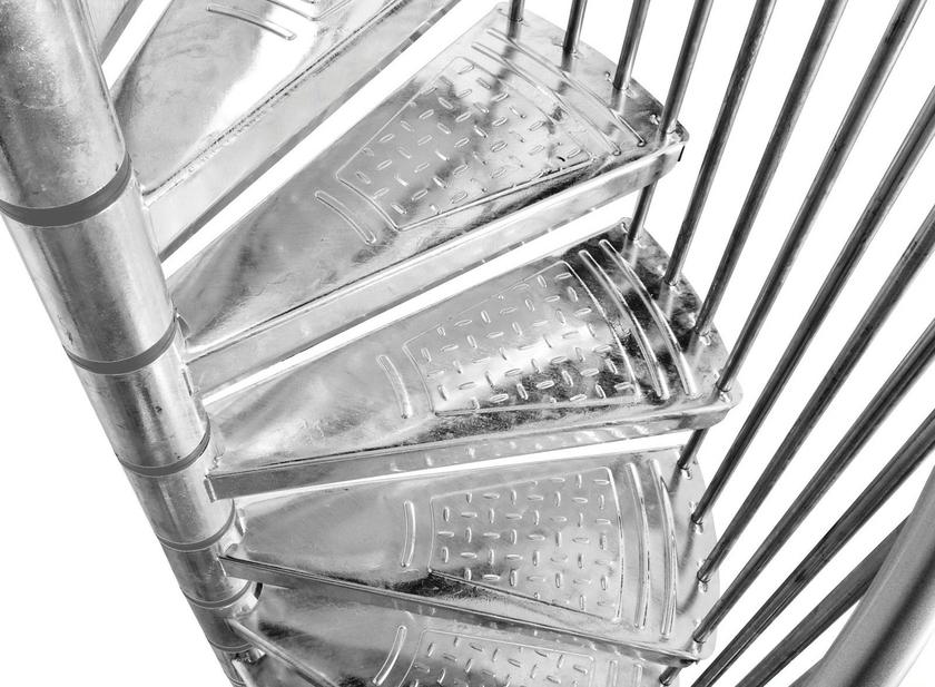 escalier h lico dal ext rieur minka en acier galvanis 160 cm escaliers d 39 ext rieur en. Black Bedroom Furniture Sets. Home Design Ideas