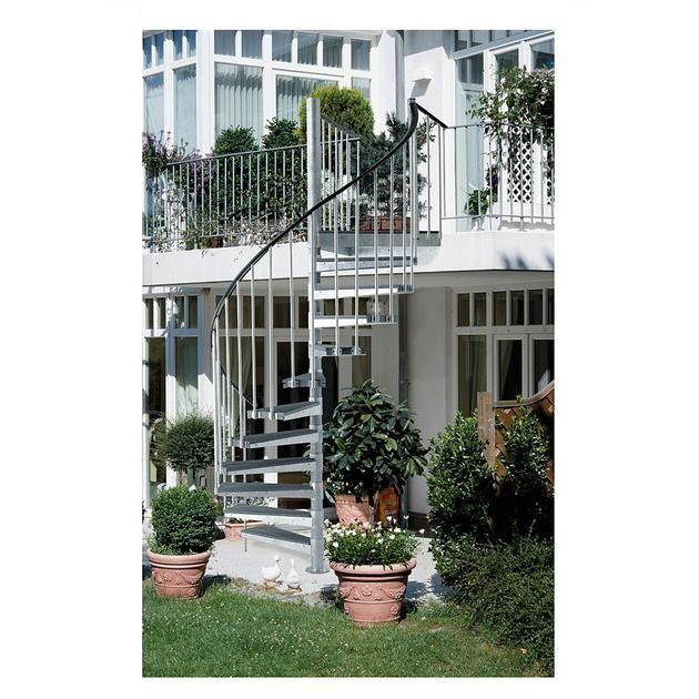 escalier h lico dal ext rieur dolle en acier galvanis 125 cm. Black Bedroom Furniture Sets. Home Design Ideas