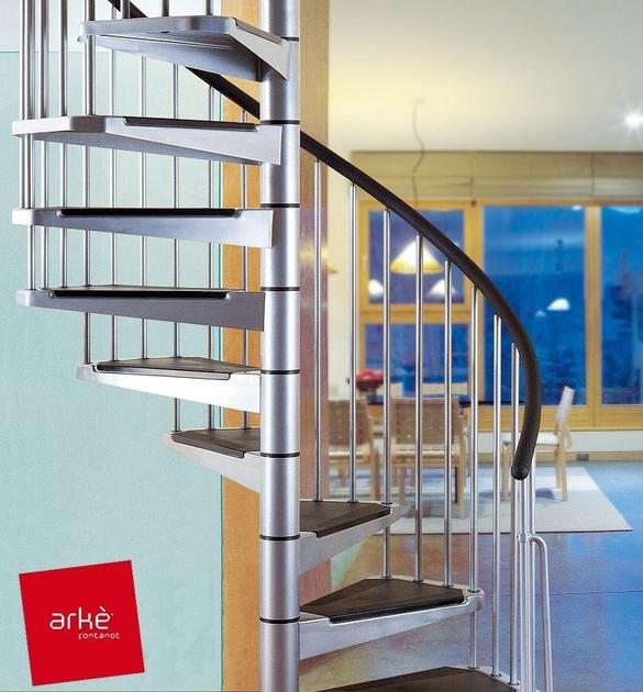 escalier h lico dal ark civik en acier gris m tallis 120 cm. Black Bedroom Furniture Sets. Home Design Ideas