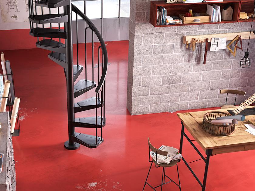 escalier en colima on acier noir fontanot af26 100 cm. Black Bedroom Furniture Sets. Home Design Ideas
