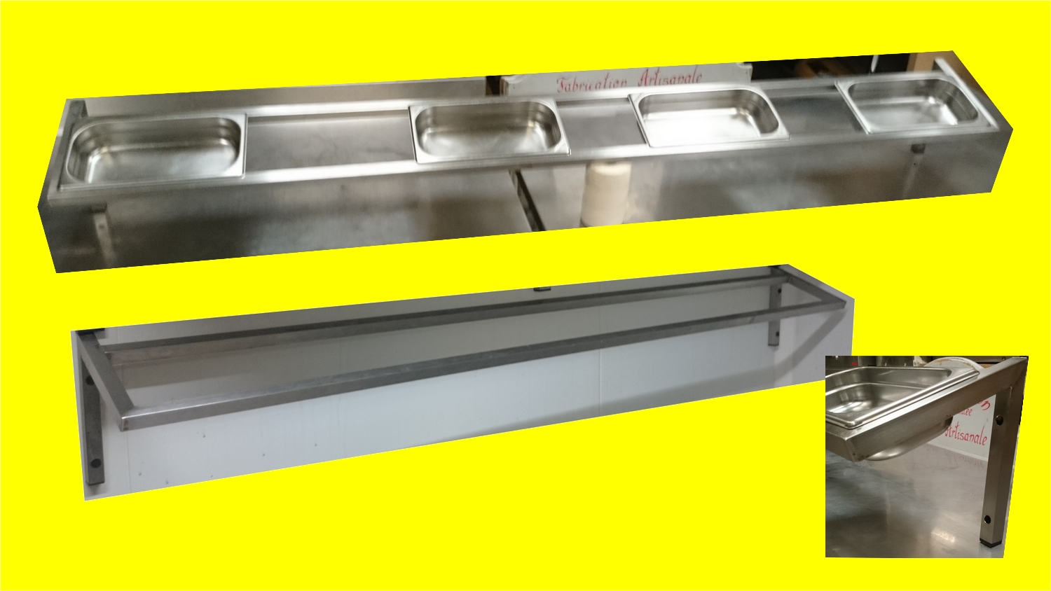 Supports étagères pour bacs gastro inox 2000 mm occasion ... on