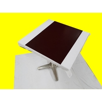 Set chemin de table design aspect simili cuir marbré marron bordeaux 69 x 47 cm  NEUF