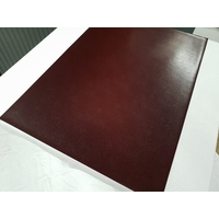 Set chemin de table design aspect cuir marbré marron bordeaux 69 x 47 cm  NEUF (3)