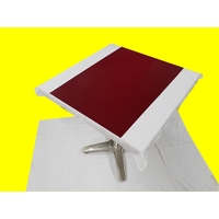 Set chemin de table design aspect simili cuir marbré rouge bordeaux 69 x 47 cm  NEUF