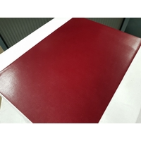 Set chemin de table design aspect cuir marbré rouge bordeaux 69 x 47 cm NEUF (2)
