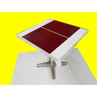 Set de table design aspect simili cuir marbré rouge bordeaux 47 x 34 cm  NEUF
