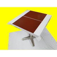 Set de table design aspect simili cuir marbré brun tabac 47 x 34 cm  NEUF