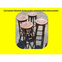 Lot 4 ancien Tabourets de bar en bois restaurant bistro pizza occasion