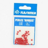 50 perles rouges 4 mm flashmer