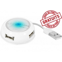 Hub USB 2.0 CUC 4 ports, blanc (021024) NEUF magic affaires prix déstockage
