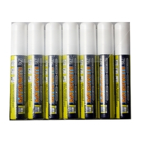 LOT DE 7 marqueur Illumigraph fluorescent WHITE PMA-720 15mm NEUF Large craie
