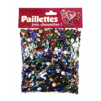 paillettes 6mm multicolores 100g